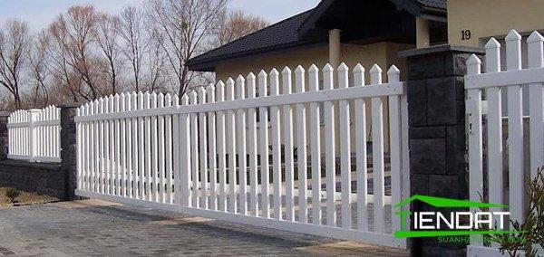 Làm hàng rào sắt đơn giản đẹp